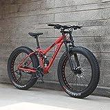 Las bicicletas de montaña de doble suspensión completa for adultos, Marco de acero al carbono de alta cola suave, deceleración muelle delantero Tenedor, mecánico del freno de disco, 26 pulgadas de rue