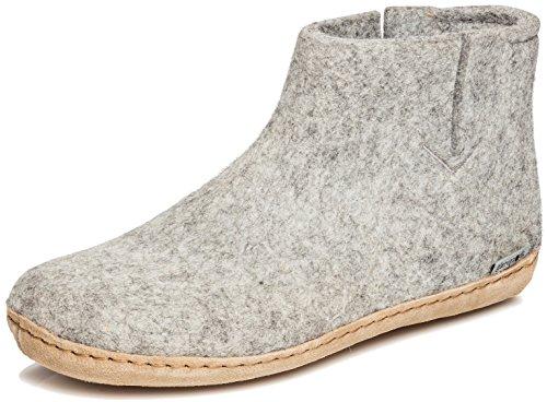 glerups dk G Ankle Shoe - Erwachsene Filz-Stiefel, Damen,Herren Huettenschuhe,Filz-Schuhe,Filz-Pantoffel,Pantoletten,Puschen Grau, 44 EU / 9.5 UK