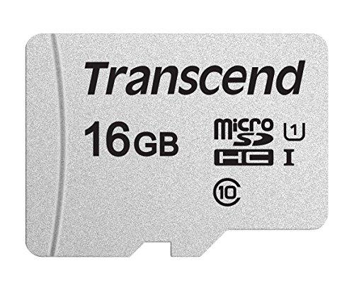 Transcend Highspeed 16GB micro SDXC/SDHC Speicherkarte (für Smartphones, etc. und Digitalkameras) / Class 10, UHS-I – TS16GUSD300S