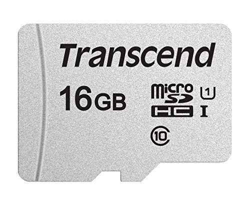 Transcend Usd300S Tarjeta Microsd de 16Gb, Clase 10, U1, Hasta 95 Mbs de Lectura