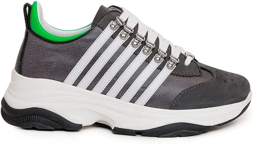 Dsquared2 bumby scarpe sneakers da uomo in pelle 251 M118