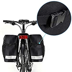 XCBCVHG Alforjas para Bicicleta Doble Ciclismo Impermeable Pannier Bag 28L Portaequipajes Asiento Trasero Tronco Bolso Alforja Accesorios