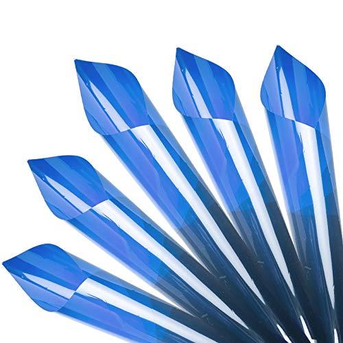 5 Stück 50x40cm Gel Farbfilter Transparenter Farbfilm, Korrektur-Gel-Lichtfilter CTO CTB für Fotostudio-Blitzlicht,LED-Videolicht,DJ-Licht usw Blau