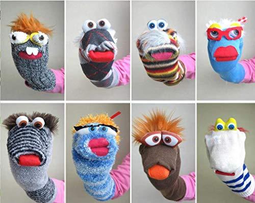 Kinderspielzeug Lernspielzeug für Kleinkinder, 1 Stück, lustige kreative Multifunktions-Socken, Handpuppen, Handpuppen, Sack, Plüsch, Spielzeug (zufällig)