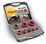 Amboss 'Red Edition', set di corone diamantateM14(per smerigliatrice angolare), per forare...