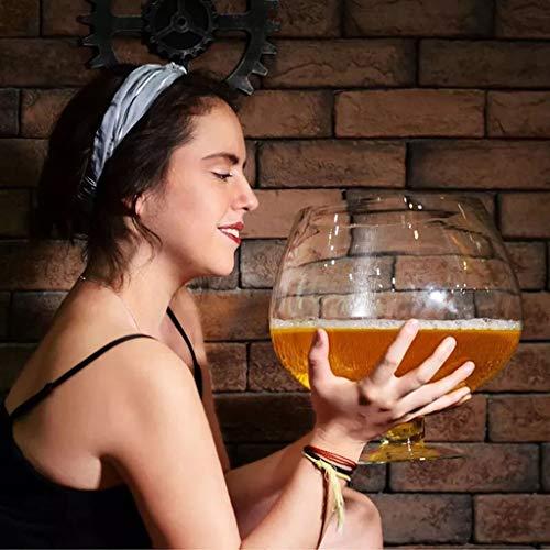 Riesen Weinglas Übergroße Bierglas Große Weinglas Bleifreier Kristallcocktailgläser Bar-Partei-Verein Barware mit Whiskey Bier Cups for Geburtstage Weihnachten Weingläser (Size : 2000ml)