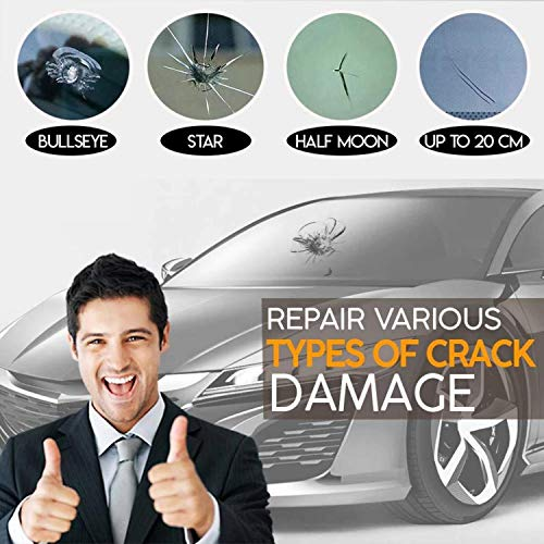 Automotive Glass Nano Repair Fluid-Car Windshield Repair Resin Cracked Glass Repair Kit,Crack Repairing for Car