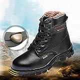 Zapatillas De Seguridad Hombre Antideslizantes Punta De Acero Antipinchazos Calzados De Trabajo S3,EU45/UK9.5