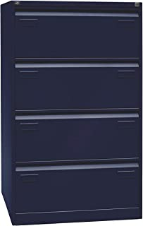 BISLEY Light Armoire pour Dossiers suspendus 4 tiroirs L800 x H1321 x P622mm Bleu Oxford