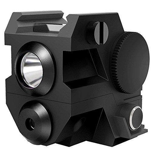 Ade Advanced Optics ALCB-2 Mini Tactical Sub Compact Rail Mount Green Laser Sight with LED Flashlight, Black