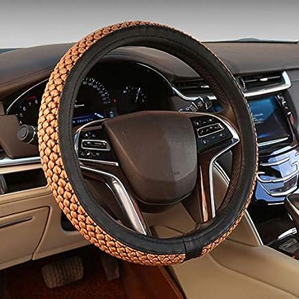 universal antideslizante y duradera transpirable color rojo Funda para volante de coche