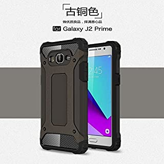 ZITEZHAI-protection Removable double tough style Shockproof PC+TPU Protective Hard Case for Samsung Galaxy J2 Prime (Color : Bronze)