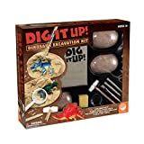 MindWare Dig It Up! Dinosaur Excavation Kit – Discovery Gift kit for Kids – Learn About Dinosaurs! – 3 Large Dino Digs with Explorer Vest, 5 Realistic Tools, Clean-up mat & Educational Fun-fact Cards