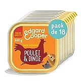 Edgard & Cooper - Caja con pátina para Perro Adulto sin Cereales, alimento Natural, 18 x 300 g, Pollo y Pavo Fresco, alimentación Sana Sabrosa y equilibrada, proteínas