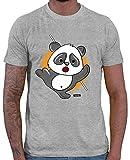 Hariz – Camiseta para hombre con diseño de oso panda Samurai y texto en alemán 'Süß Tiere Dschungel Plus' gris L
