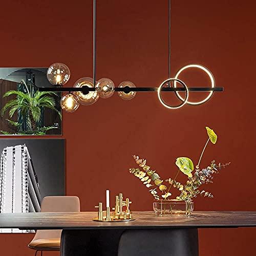 Araña de cristal de burbuja negra Lámpara colgante moderna LED G9 Lámpara de techo Restaurante Lámpara colgante Lámparas colgantes decorativas Sala de estar Accesorio de iluminación interior