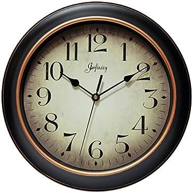 Infinity Instruments 14877BG-2732 Precedent Silent Sweep 12 inch Wall Clock