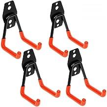 Ganchos de Almacenamiento de Garaje - 4 piezas Ganchos para Colgar Gancho para Colgador de Garaje Dobles Gancho de Bicicleta de Pared para Organizar Herramientas Multifuncional (Pequeña)
