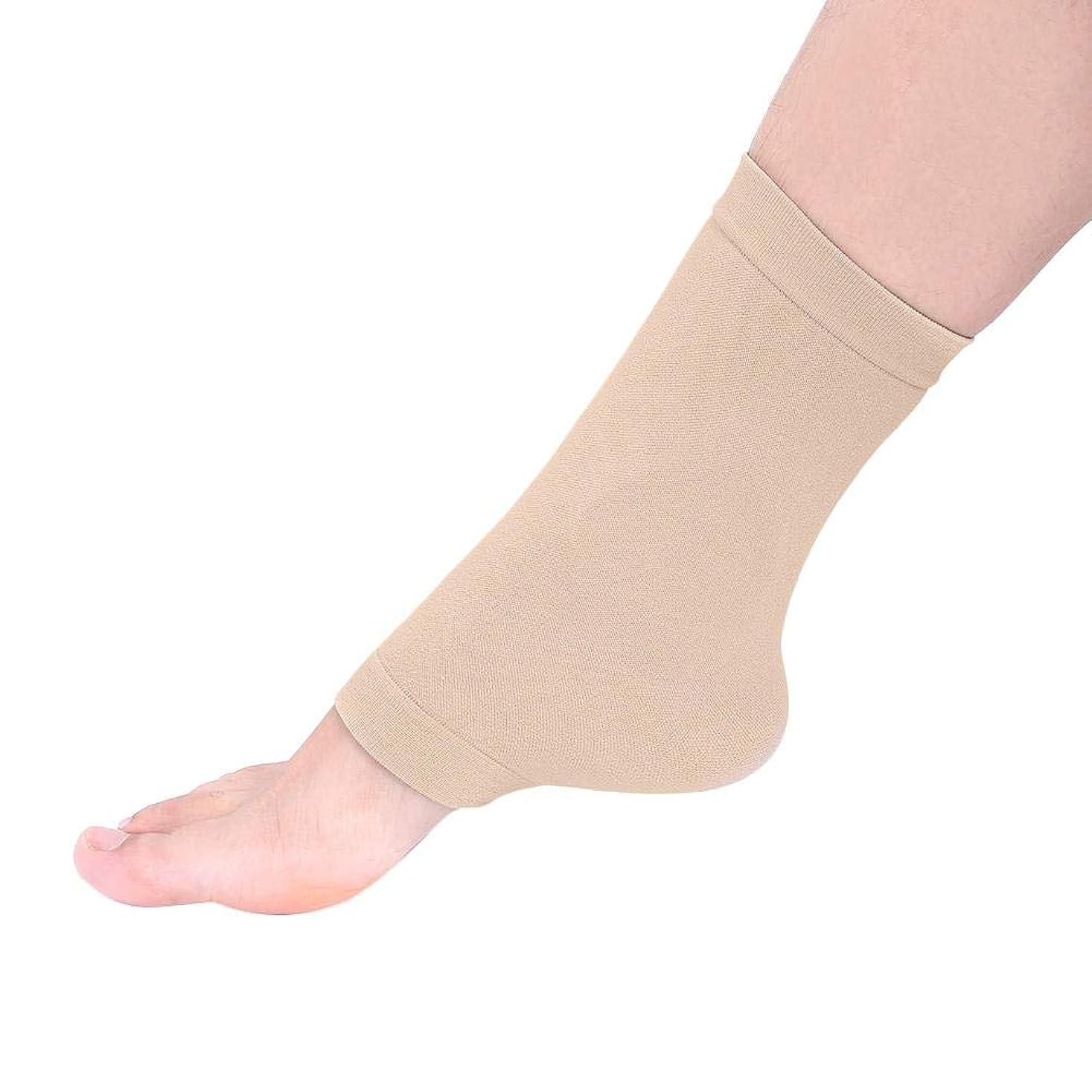 ソフトウェア穀物動脈ZJchao 足のひびの入った靴下、集中的な通気性のひびの入ったかかとの足首の袖の保湿の靴下修理ひびの入ったかかとの角質除去