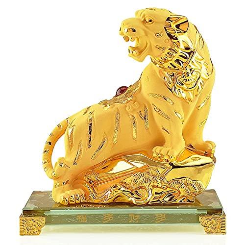 BAFEI Figuras coleccionables de Resina Dorada del año de la Serpiente del Zodiaco Chino de Gran tamaño para decoración de Mesa