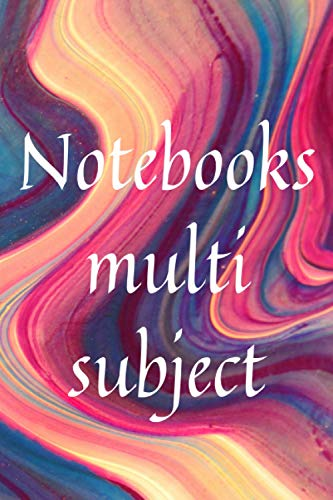 Notebooks multi subject: Nice Notebook Gift .Blank lined Notebook . size 6*9,120 pages