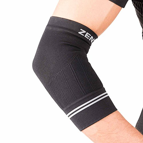 Zensah Compression Tennis Elbow Sleeve for Elbow Tendonitis, Tennis Elbow, Golfer's Elbow - Elbow Support, Elbow Brace,Medium,Black