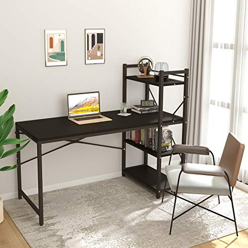 Tower Computer Desk with 4 Tier Shelves - 47.6