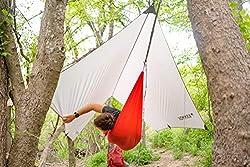 KAMMOK Kuhli Ultralight - Ultralight Versatile Weather Shelter, Waterproof, Durable, Portable, Camping Tarp, Hammock Tarp, Rain Cover
