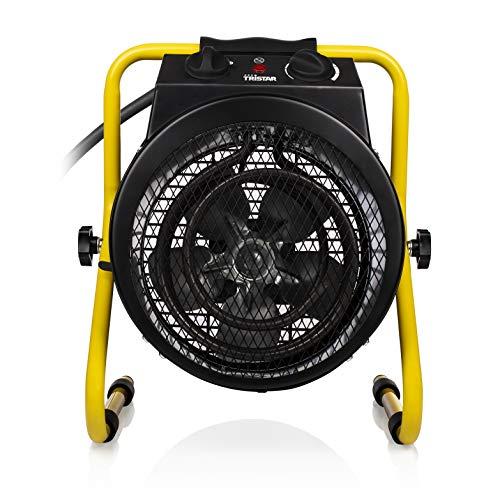 Tristar KA-5062 Elektroheizung (Ventilator), Spritzwasserbeständig, 3000 W, Schwarz, Gelb