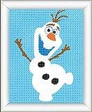 Vervaco Stickpackung Disney Olaf, Stickbild vorgezeichnet Stickbildpackung, vorbezeichnet, Baumwolle, Mehrfarbig, 12.5 x 16 x 0,3 cm