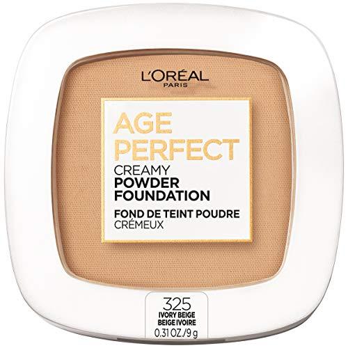 L'Oreal Paris Age Perfect Creamy Powder Foundation Compact, 325 Ivory Beige, 0.31 oz.