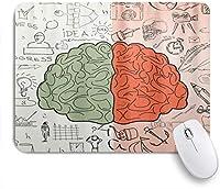 NIESIKKLAマウスパッド 左と右の脳機能 ゲーミング オフィス最適 おしゃれ 防水 耐久性が良い 滑り止めゴム底 ゲーミングなど適用 用ノートブックコンピュータマウスマット