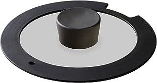 アイリスオーヤマ ガラス蓋 「ダイヤモンドコートパン」 18cm ブラック H-IS-GL18