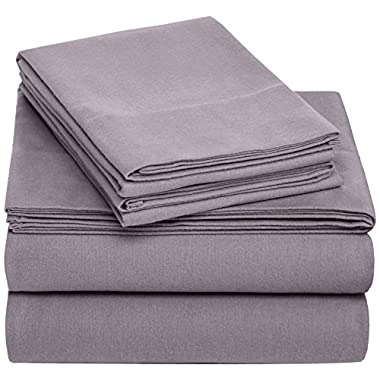 Pinzon 170 Gram Flannel Sheet Set – King, Graphite