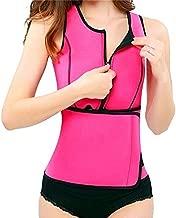 Swarim Women Neoprene Hot Sweat Sauna Suit Waist Trainer Vest Adjustable Waist Trimmer Belt Weight Loss Tank Top - XL