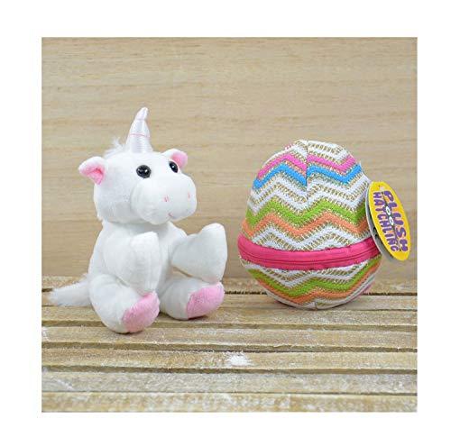 Kögler 75760 - Emily, Mini Einhorn aus Plüsch im Ei, ca. 13 cm groß, kleines Plüschtier zum...
