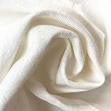 ハンドメイド用生地 150cm巾リネン100% 無地 ホワイト 厚地 R1458(旧品番 W-8541)