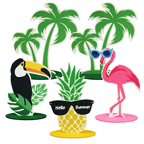 Summer Party Decorations DIY Felt Table Centerpiece Pineapple Birthday Flamingo Centerpiece for Summer Table Decoration Hawaiian Beach Luau Party Supplies