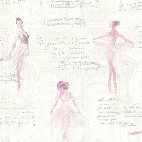 Arthouse Papel Pintado Pirouette, Rosa, 53 cm x 10.05 m