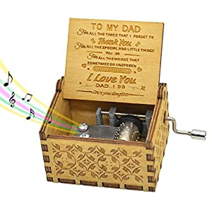 """♬【No Batteries Required】Keep cranking the handle to play the sweet tune """"You are my sunshine"""". ♬【Perfect Gifts For Your Dad】Unique gift for your dad. This box is also serves as an excellent conversation piece. ♬【Easy to Carry】Size:2.55""""×2""""×1.5""""(6.5cm..."""