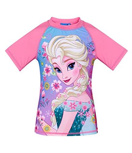 Disney Die Eiskönigin Elsa & Anna Mädchen Swim Shirt - Pink - 140