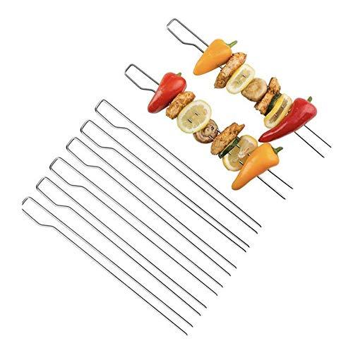 N/P Edelstahl-Grillschild, Flachschild, rundes Schild, Grillnadel, Stahl gelötete Lamm Spieße durch die Schnur