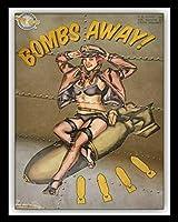 インチティンサイン爆弾アウェイヴィンテージ鉄の絵の金属板ノベルティ装飾クラブカフェバー