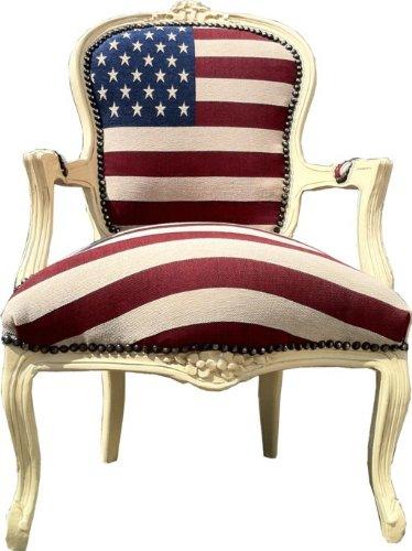 Casa Padrino Barock Salon Stuhl USA Design/Creme