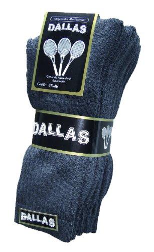 Dallas 4 Paar Damen und herren Sport und Outdoor Socken Gr. 35-38, 39-42, 43-46, 47-50 (43-46, Blau)