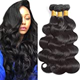 Flady Hair 10A Brazilian Body Wave Virgin Hair 3 Bundles 14 16 18inch Unprocessed Virgin Human Hair Weave Bundles Natural Black Remy Hair