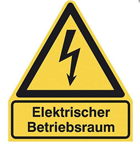 """Aufkleber""""elektrischer Betriebsraum"""" Schild ISO7010 ASR gelb 210x245mm"""