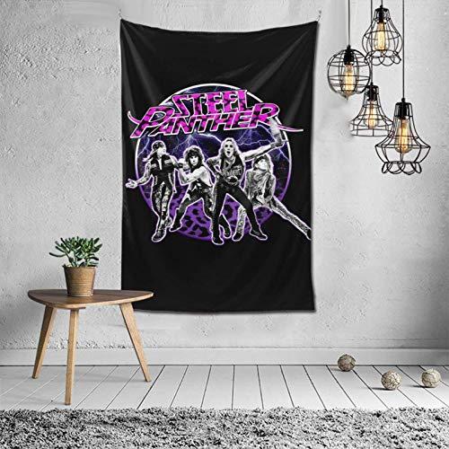 Tapiz de Banda de Pantera de Acero para Colgar en la Pared, tapices artísticos, decoración para Dormitorio, Sala de Estar, Dormitorio