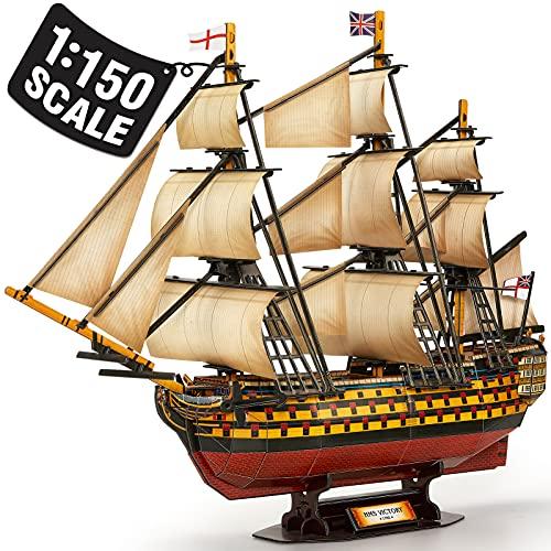 CubicFun 3D Puzzles Large HMS Victory Vessel Ship...