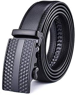 Autolock Men's Leather Ratchet Dress Belts with Automatic Buckle